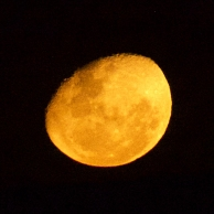 The moon on Halloween